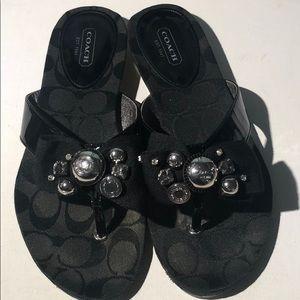 Authentic Coach ~Sylvia~ Size 7.5 M black sandals
